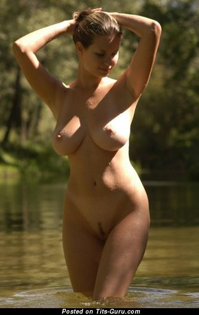Sexy naked awesome female with medium natural boobies picture