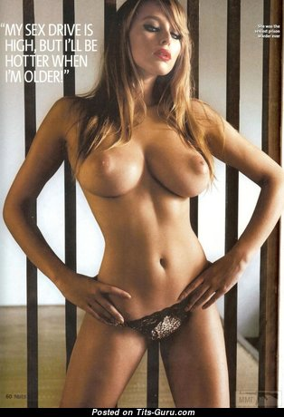 Keeley Hazell - Elegant British Red Hair Babe with Elegant Naked Mid Size Knockers & Piercing (Hd Xxx Photoshoot)
