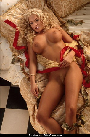 Image. Heather Kozar - sexy topless blonde with big boob and big nipples image