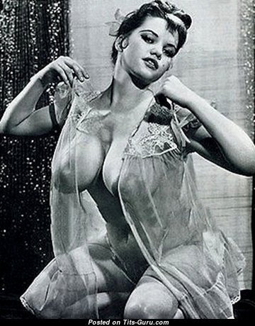 Rosina Revelle - Wonderful Glamour British Brunette Babe with Perfect Exposed Real Sizable Tits (Vintage Sexual Pic)