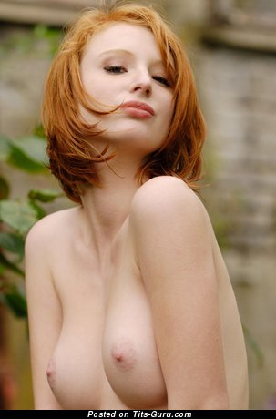 Naked beautiful woman with medium natural boob picture