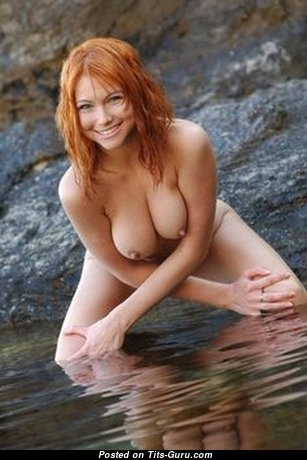 Grand Unclothed Red Hair with Huge Nipples (18+ Photoshoot)