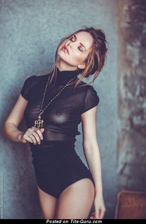 Image. Nice woman with medium natural boobs image