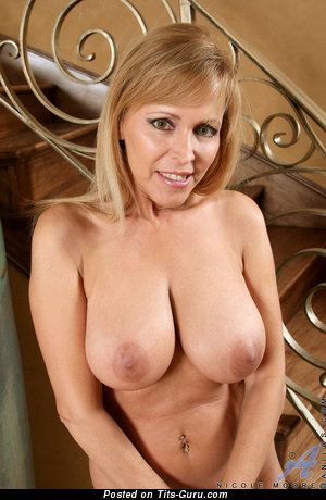 Nicole Moore: topless blonde with medium natural boob picture
