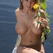 Wonderful woman with big natural breast image