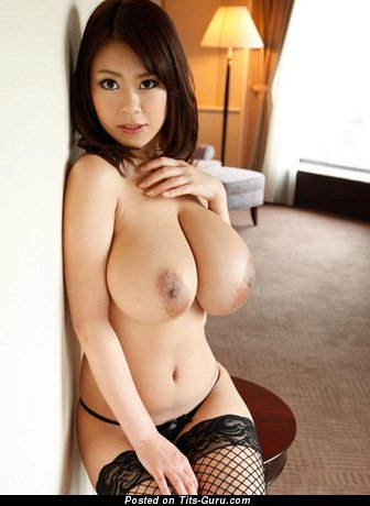 Image. Ria Sakuragi - sexy naked asian brunette with big natural boob picture