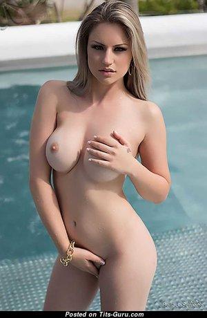 Mari Alexandre - Graceful Topless Brazilian Blonde with Graceful Defenseless Soft Boobies (Hd Porn Photoshoot)