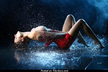Alla Berger - Nice Wet Russian Babe with Nice Exposed Natural Average Breasts (Hd 18+ Pix)