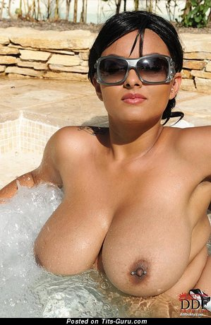 Naked wonderful lady with huge natural boobs pic