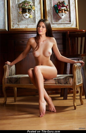 Image. Nude amazing woman with medium natural tits photo