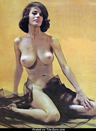 Image. Joan Zinn - nude beautiful lady with big natural boob vintage