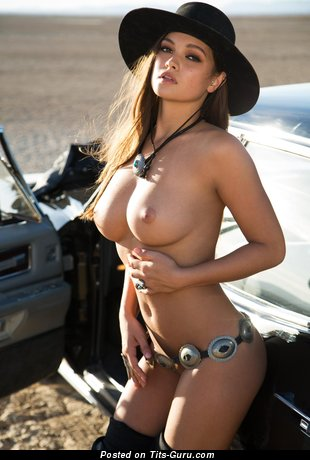 Image. Nude wonderful female with medium tittys picture
