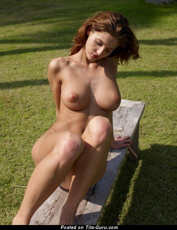 Charming Brunette Babe with Charming Bare Natural Medium Sized Breasts (Hd Sexual Image)