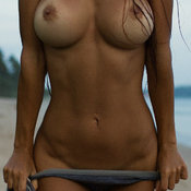 Hot woman with medium natural breast photo