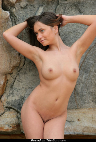 Image. Nude awesome female with medium natural tittys photo