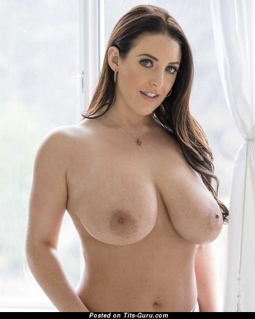 Angela White - Sexy Australian Brunette Pornstar & Babe with Sexy Exposed Natural Very Big Boob (Xxx Image)
