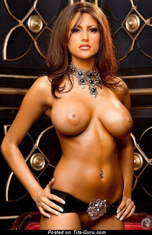 Exquisite Playboy Brunette with Exquisite Defenseless Mid Size Boobs (Xxx Image)