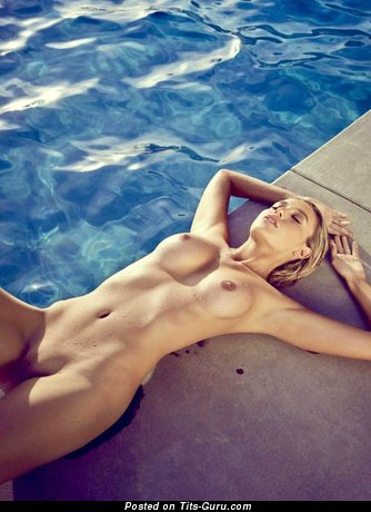 Stunning Female with Stunning Bare Dd Size Boobies in the Pool (Sexual Photo)