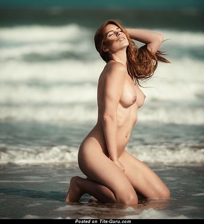 Image. Naked beautiful woman with natural boobs pic