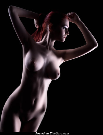 Image. Nude red hair with big natural tots and big nipples pic