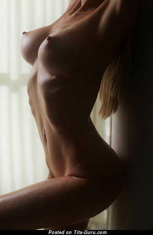 Perfect Blonde with Perfect Nude Average Jugs (18+ Picture)