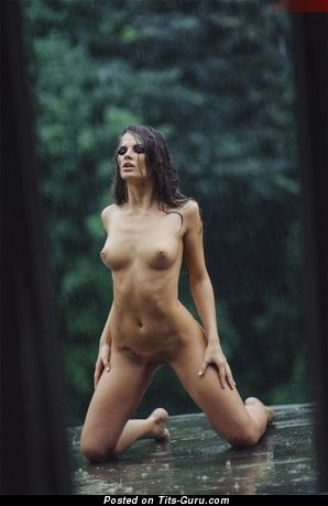 Image. Naked awesome female with natural tits image