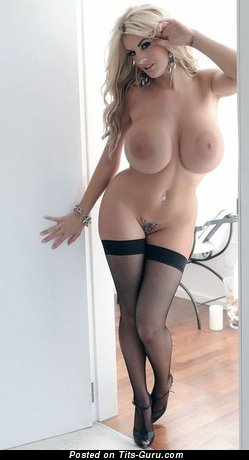 Image. Nude amazing lady with big fake boob pic