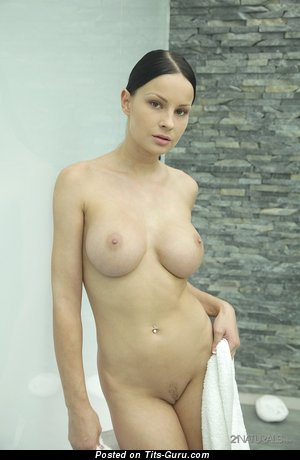 Abbie Cat - nude brunette with medium fake boobies picture