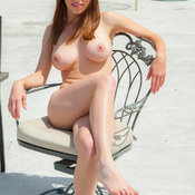 Sexy wonderful female with big natural tits pic
