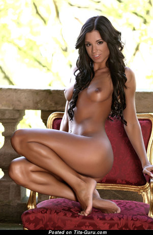 Image. Ashley Bulgari - brunette with medium natural boobs photo