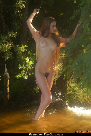 Image. Naked beautiful woman with medium natural tittes pic