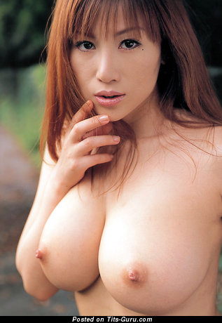 Image. Asian red hair with big tittes photo