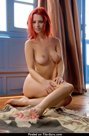 Ariel Piper Fawn - Beautiful Czech Red Hair Babe & Pornstar with Beautiful Nude Natural Tight Breasts & Pointy Nipples (Hd Sex Image)