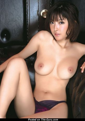 Image. Nude asian brunette with medium natural boob image