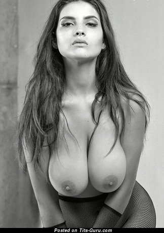Image. Sexy nude amazing female with big natural boob picture