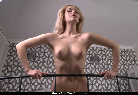Image. Naked wonderful girl with natural tittes photo