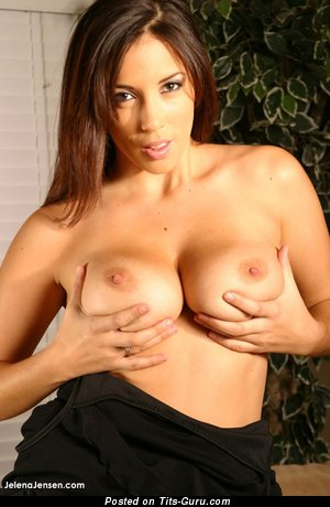 Image. Jelena Jensen - naked beautiful female with big natural boob image
