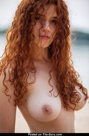 Sexy Red Hair Babe with Sexy Nude Natural C Size Knockers (Hd Sex Pic)