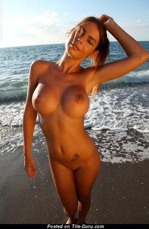 Fine Dame with Fine Defenseless Silicone H Size Chest (Hd Porn Image)
