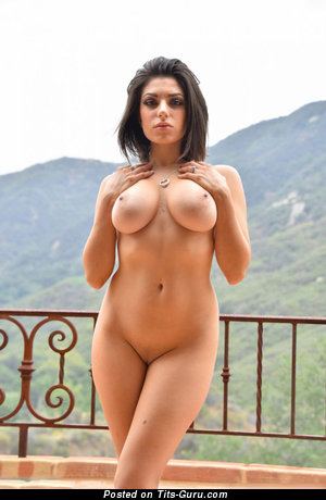 Image. Sexy naked amazing girl with big natural tits pic