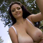 Amazing girl with huge boob photo