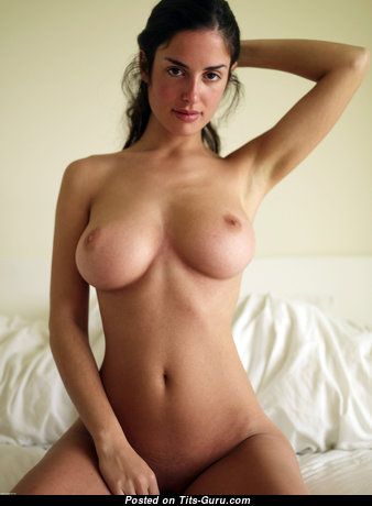 Magnificent Brunette with Magnificent Naked Medium Boobys & Giant Nipples (Hd Sex Photo)