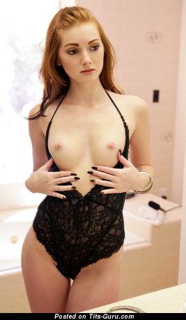 Elegant Topless Miss with Elegant Defenseless Real Hooters (Porn Pix)