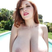 Tessa Fowler - sexy nude red hair with big natural boobs photo