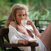 Beautiful female with big natural breast picture