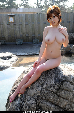 Image. Rio Hamasaki - sexy naked asian brunette with medium natural breast image