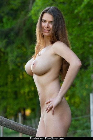 Lovely Female with Lovely Defenseless Very Big Titties (Hd Porn Foto)