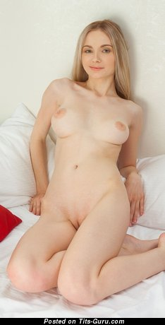 Image. Nice woman with medium natural boobies pic