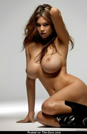 Appealing Chick with Appealing Defenseless Round Fake Very Big Chest (Hd 18+ Pix)