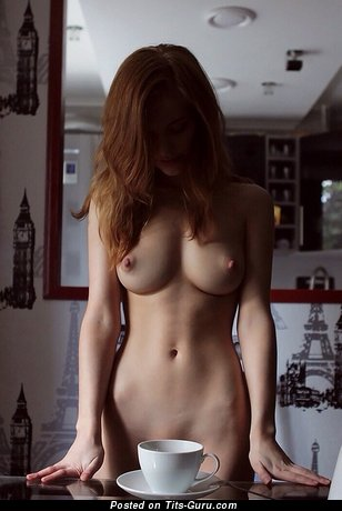Fine Female with Fine Bald Real Mid Size Tits (Porn Foto)